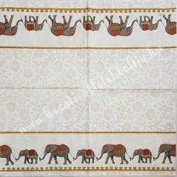 Szalvéta, országok, India, 33x33 cm (16)