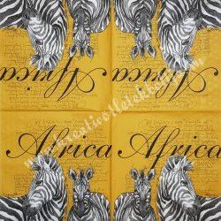 Szalvéta, országok, Afrika, 32x32 cm, 1 darab