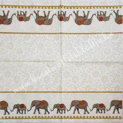 Szalvéta, országok, India, 25x25 cm, 1 darab