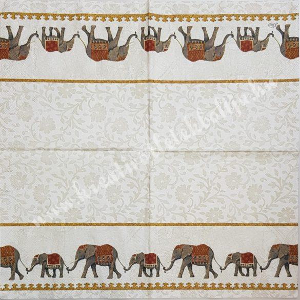 Szalvéta, országok, India, 25x25 cm (25)