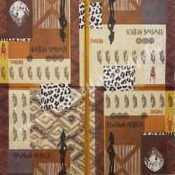 Szalvéta, országok, Afrika, 33x33 cm (5)