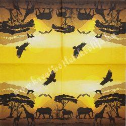 Szalvéta, országok, Afrika, 33x33 cm (8)