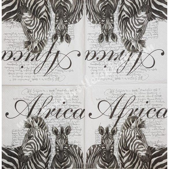 Szalvéta, országok, Afrika, 33x33 cm (9)