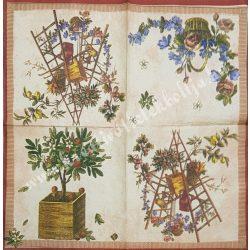 Szalvéta, őszi gyümölcs, 32x32 cm, 1 darab