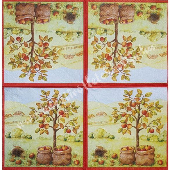 Szalvéta, őszi gyümölcs, alma, 33x33 cm (8)