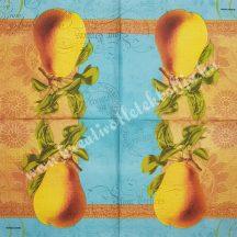 Szalvéta, őszi gyümölcsök, körte, 32x32 cm, 1 darab