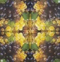 Szalvéta, őszi gyümölcsök, szőlő, 25x25 cm, 1 darab