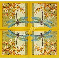 Szalvéta, pillangó 14., szitakötő, 25x25 cm