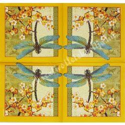 Szalvéta, pillangó, szitakötő, 25x25 cm (14)