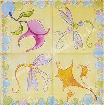 Szalvéta, pillangó, 25x25 cm, 1 darab
