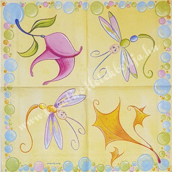 Szalvéta, pillangó, 25x25 cm (15)