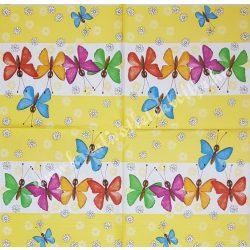 Szalvéta, pillangó 8., 33x33 cm