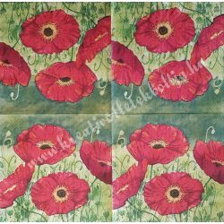 Szalvèta,  pipacs  33x33 cm (6)
