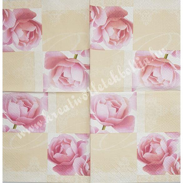Szalvéta, rózsa, 33x33 cm (11)