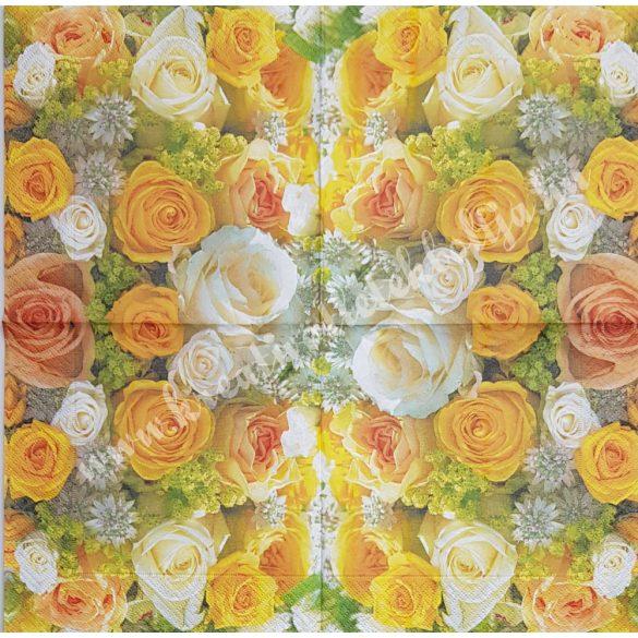 Szalvéta, rózsa, 33x33 cm (15)