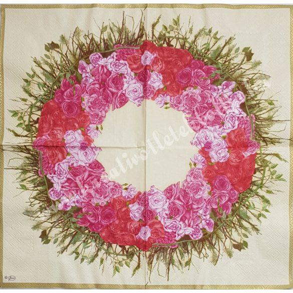 Szalvéta, rózsa, 33x33 cm (16)