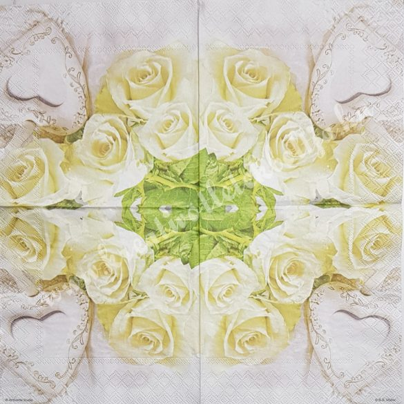Szalvéta, rózsa, 33x33 cm (18)