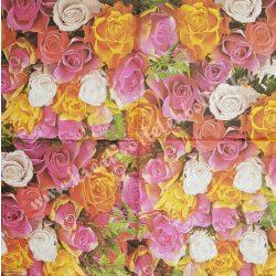 Szalvéta, rózsa, 33x33 cm (26)
