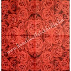 Szalvéta, rózsa, 33x33 cm (7)