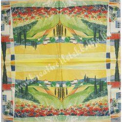 Szalvéta, tájkép, 33x33 cm (13)
