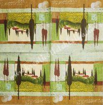 Szalvéta, tájkép, 32x32 cm, 1 darab