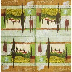 Szalvéta, tájkép, 33x33 cm (14)