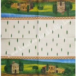 Szalvéta, tájkép, 33x33 cm (16)