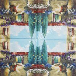 Szalvéta, tájkép, 33x33 cm (24)