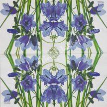 Szalvéta, tavaszi virágok, 25x25 cm, 1 darab