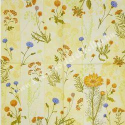 Szalvéta, tavaszi virágok, mezei virágok, 32x32 cm, 1 darab