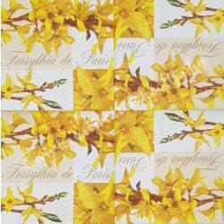 Szalvéta, tavaszi virágok, vanília, 25x25 cm, 1 darab