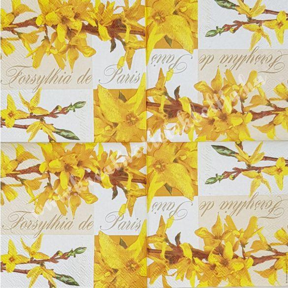 Szalvéta, tavaszi virágok, 25x25 cm (2)