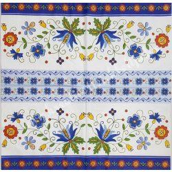 Szalvéta, tavaszi virágok, mintás, 32x32 cm