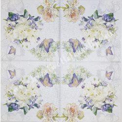 Szalvèta, tavaszi virágok 33x33 cm (5)