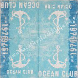 Szalvéta, tenger, horgony, óceán club, 33x33 cm (1)