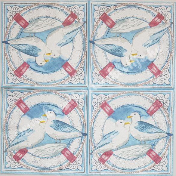 Szalvéta, tenger, sirály, 33x33 cm (26)