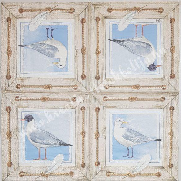 Szalvéta, tenger, sirály, 33x33 cm (27)