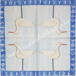 Szalvéta, tenger, gólya, 32x32 cm, 1 darab