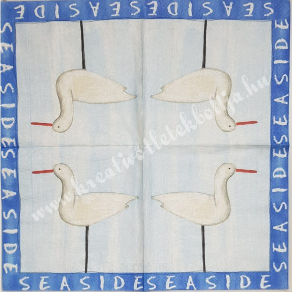 Szalvéta, tenger, gólya, 33x33 cm (29)