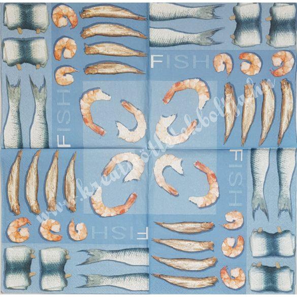Szalvéta, tenger, tengeri étel, 33x33 cm (35)