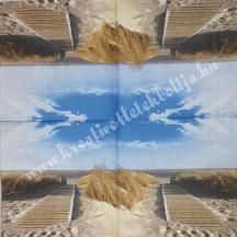 Szalvéta, tenger, stég, 25x25 cm, 1 darab
