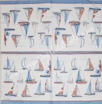 Szalvéta, tenger, vitorlások, 32x32 cm, 1 darab