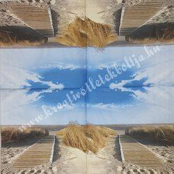 Szalvéta, tenger, stég, 33x33 cm (43)