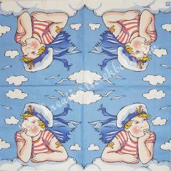Szalvéta, tenger, tengerész, 32x32 cm, 1 darab