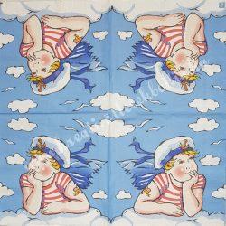 Szalvéta, tenger, tengerész, 33x33 cm (6)