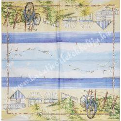 Szalvéta, tenger, tengerpart, 32x32 cm, 1 darab