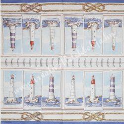 Szalvéta, tenger, világítótornyok, 32x32 cm, 1 darab
