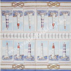 Szalvéta, tenger, világítótornyok, 33x33 cm (9)