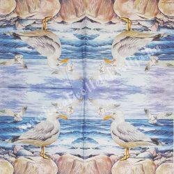 Szalvéta, tenger, sirályok, 33x33 cm (21)