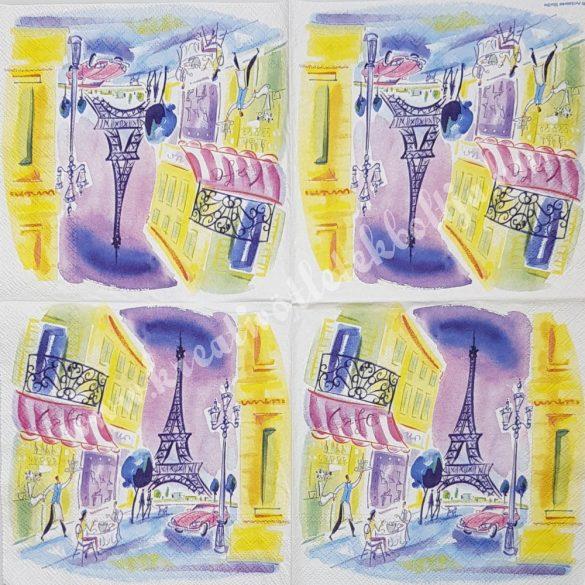 Szalvéta, trendi, Párizs, 33x33 cm (2)